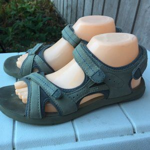 Rugged Outback Gray Suede Velcro Sandals Size 8.5